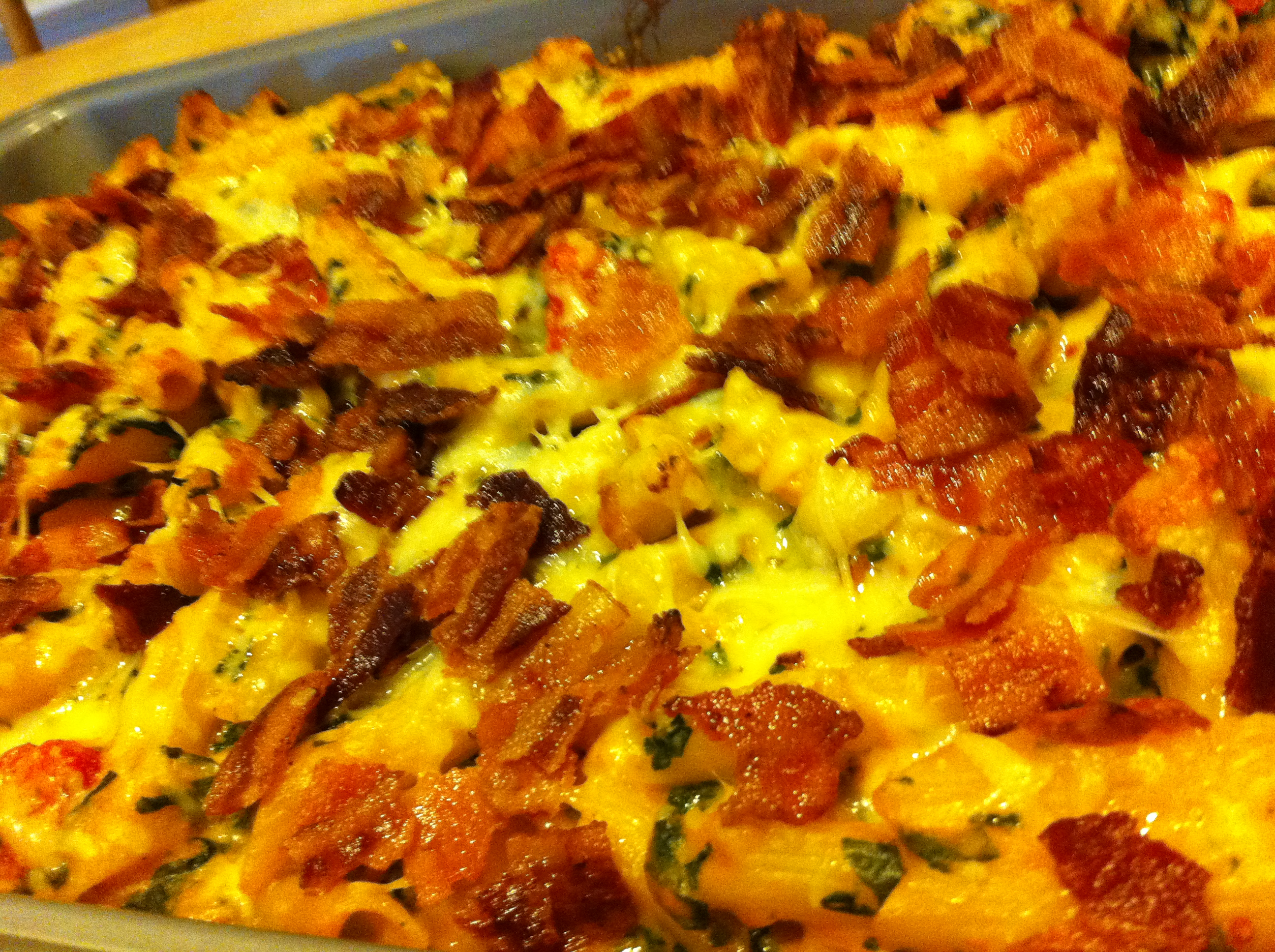 Baked Penne With Spinach, Roasted Red Peppers & BACON Recipes ...